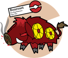 Fake Pokemon: Boaroast 2.0 by Sageroot