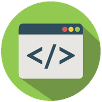 Code Flat Icon by FoxInFlame
