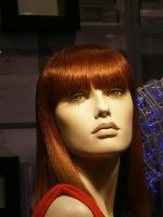 red hair red face mannequin by ginseng