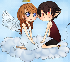 Happy birthday honeydear! : Angelina and Damon by myneea