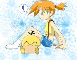 ::..Misty n' Psyduck..:: by Umbra-Flower