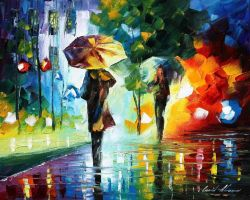 Dream Of The Rain by Leonid Afremov by Leonidafremov