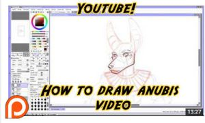 How to draw Anubis Video Tutorial by lady-cybercat