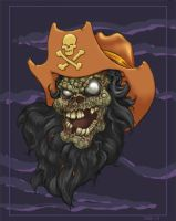 The Ghost Pirate LeChuck by slightlytwisted
