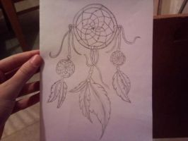 Dreamcatcher tattoo design by metaboycuteascouldbe