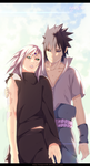 Sakura and Sasuke by TempestDH