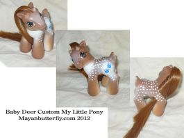 Baby Deer Custom My Little Pony by mayanbutterfly