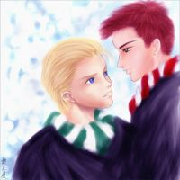 Snow Ron and Draco by fuileachd