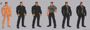 1991 Terminator T800 Battle Damage Stages by BongzBerry