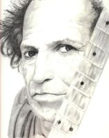 Keith Richards by WinglessAndTainted