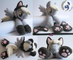 Derpy Hooves Kitty beanie plushie by MalwinaHalfMoon