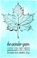 The Wonder Years flyer by billpyle