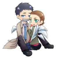 Castiel and Gabriel 2 by ILsama