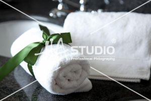 Bath Towel ready to use by Hastudio