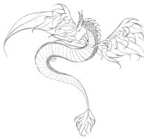 the winged serpent by princess-mint