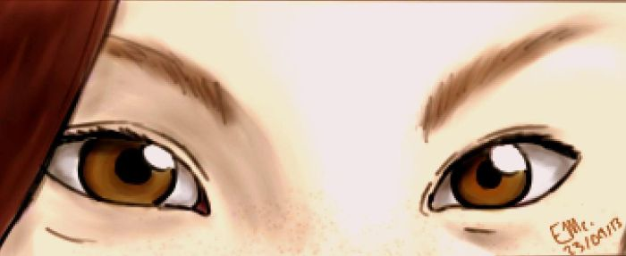 Realistic pair of eyes (practice) by wolf--eyes