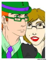 The Riddler and Di by Leopard-Gryphon