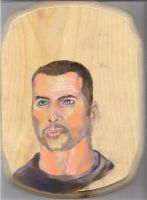 Shepard in pastel color pencils on wood by jagespages