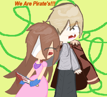 Pirate England and Pirate Angel ( me ) by angel-san-kitty12