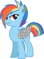Peace Time Rainbow Dash (Sombra War No Uniform) by davidsfire