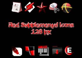 Red Supplemental Icons by muutus
