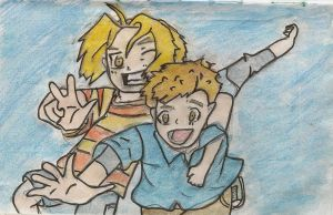 Young Elric Brothers by detectivegirl42