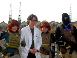 Otacon and Meryls by Lozeng3r