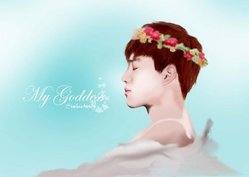 SUHO EXO  -flower crown- by valicehime
