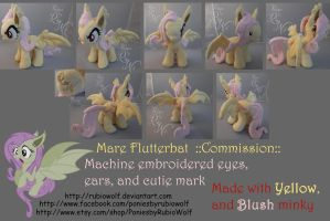MLP Flutterbat ::Commission:: 10 inch mare by RubioWolf