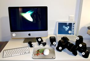 desktop with new iMac by nemeziz