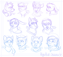[HH] Headshot sketches of cuties by CaptainClovey