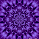 Purple Glyph Flower by fraxialmadness3