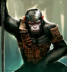 Caesar Planet of the Apes by Noe-Leyva