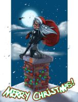 Black Cat Christmas colors by JoeyVazquez
