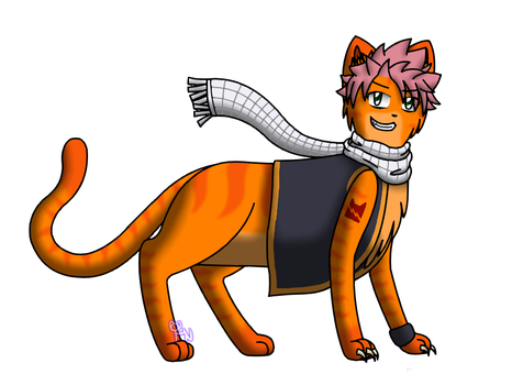 Fireheart Dragneel by Mewmewcat12