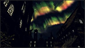 Northern Lights Over Solitude by BinaryReflex