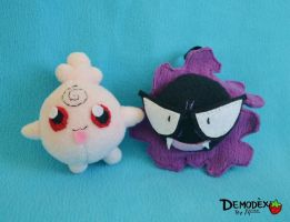 Igglybuff and Gastly by Astreum87
