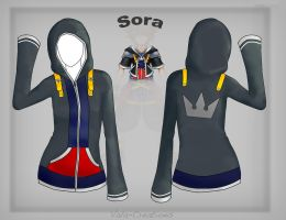Casual Sora hoodie design by Vala-Creations
