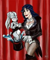 Zatanna Bunny Trick by mannycartoon
