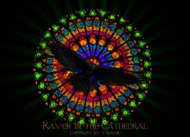 Cathedral Raven - wallpaper by Vrolok87