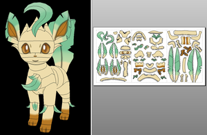 Leafeon (ORAS version) Papercraft + Unfold Info by Sabi996