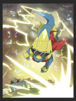 Manectric appealed with Thunder!! by ManiacalMew