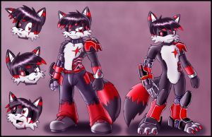 Commission: Darkfox reference by zeiram0034