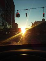 Downtown Sunset by Stereoset95