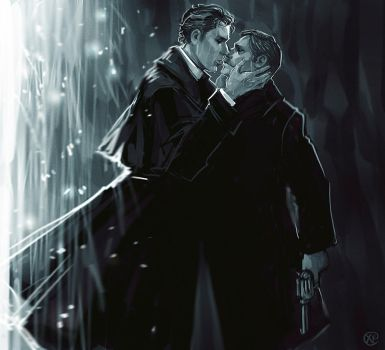 Sherlock BBC: The Abominable Bride - Kiss by maXKennedy