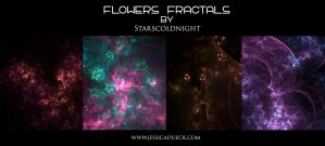 Flowers fractal by starscoldnight by StarsColdNight