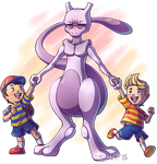 Mewtwo Gets A Job by SunnieF