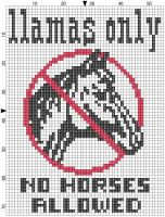 Llamas Cross Stitch by Krissay20