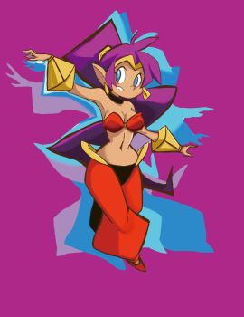 Shantae Dance by littlefoxproductions