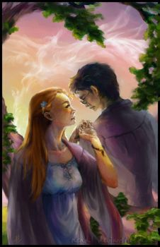 HP Tarot - 6. The Lovers by Nendil